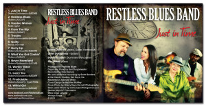 Sleeve design for the Restless Blues Band.