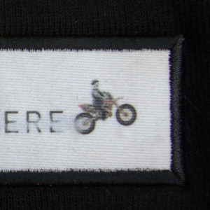 Close up of patch