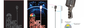 "Final production art for ""Last Comic Standing"" mini microphone"