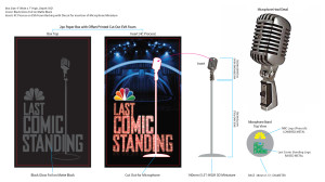 """Final production art for """"Last Comic Standing"""" mini microphone"""