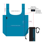 Tech specs for reusable shopper totes.